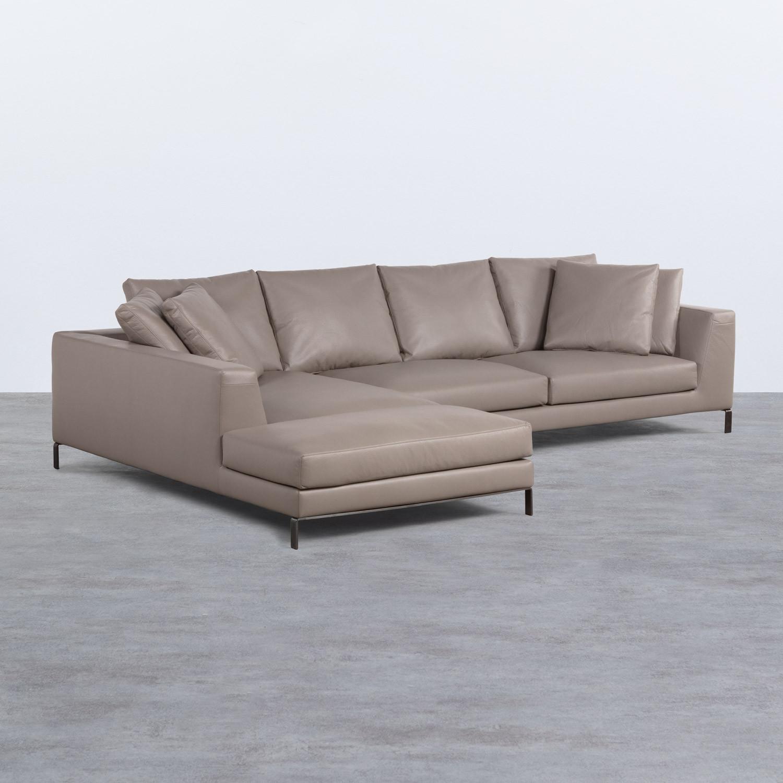 Sofa Chaiselongue rechts 4-Sitzer- aus Kunstleder Tandis, Galeriebild 1