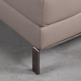 Sofa Chaiselongue rechts 4-Sitzer- aus Kunstleder Tandis, Miniaturansicht 4