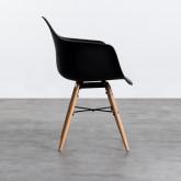 Esszimmerstuhl aus Polypropylen und Holz Fine Arms, Miniaturansicht 2