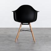 Esszimmerstuhl aus Polypropylen und Holz Fine Arms, Miniaturansicht 3