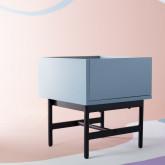 Nachttisch aus MDF und Metall Tuika, Miniaturansicht 10