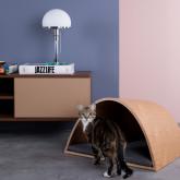 Nest Bett aus Holz und Stoff für Hunde und Katzen Prico , Miniaturansicht 2