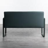 Bank mit Rückenlehne aus Kunsteleder und Stahl Tropi, Miniaturansicht 4