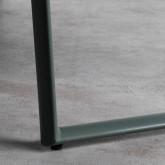 Bank mit Rückenlehne aus Kunsteleder und Stahl Tropi, Miniaturansicht 6