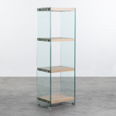 Bücherregal aus Glas und MDF (125,5 cm) Nilenia, Miniaturansicht 1