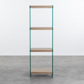 Bücherregal aus Glas und MDF (125,5 cm) Nilenia, Miniaturansicht 3