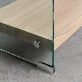 Bücherregal aus Glas und MDF (125,5 cm) Nilenia, Miniaturansicht 5