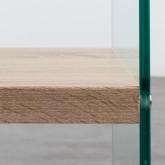 Bücherregal aus Glas und MDF (125,5 cm) Nilenia, Miniaturansicht 6