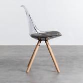 Esszimmerstuhl aus Polycarbonat und Holz Hardwood Stella Transparent, Miniaturansicht 2