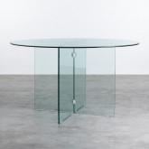 Runder Esstisch aus gehärtetem Glas (Ø137 cm) Vidre Round, Miniaturansicht 1