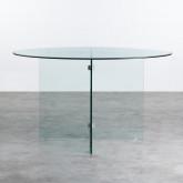 Runder Esstisch aus gehärtetem Glas (Ø137 cm) Vidre Round, Miniaturansicht 3