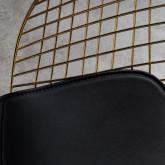Esszimmerstuhl aus Stahl Amber Golden Edition, Miniaturansicht 4