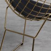 Esszimmerstuhl aus Stahl Amber Golden Edition, Miniaturansicht 6