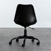 Verstellbarer Bürostuhl mit Räder und Höhenverstellbar Futur, Miniaturansicht 3