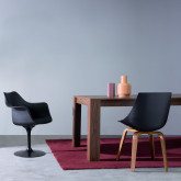 Esszimmerstuhl aus Polypropylen und Holz Futur Wood, Miniaturansicht 2