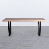 Esszimmer Tisch Rechtecking aus MDF (190x90 cm) Valle, Miniaturansicht 4