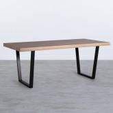 Esszimmer Tisch Rechtecking aus MDF (190x90 cm) Valle, Miniaturansicht 1