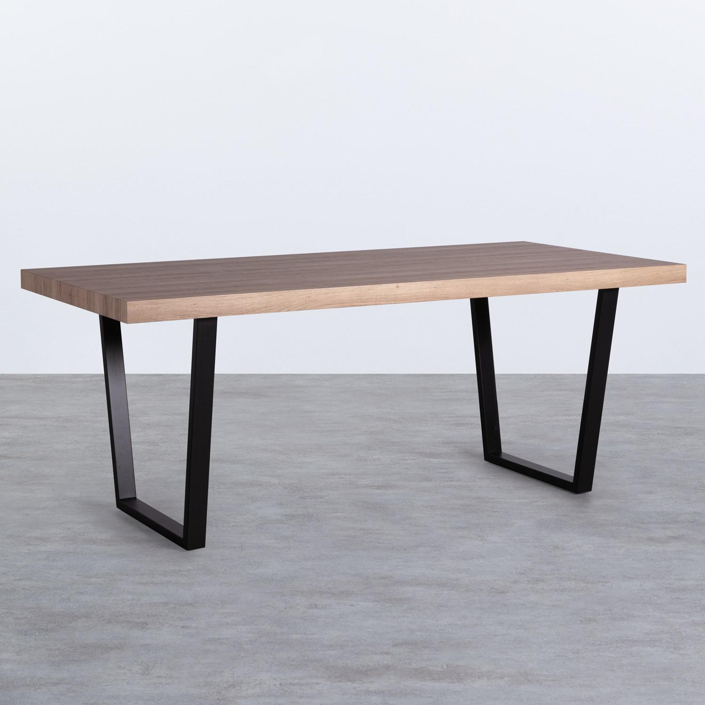 Esszimmer Tisch Rechtecking aus MDF (190x90 cm) Valle, Galeriebild 1