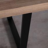 Esszimmer Tisch Rechtecking aus MDF (190x90 cm) Valle, Miniaturansicht 5