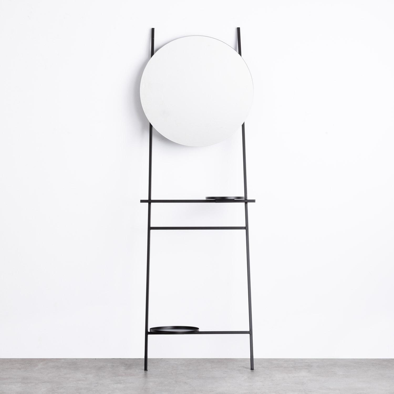 Foyer mit Spiegel aus Stahl Janes , Galeriebild 1