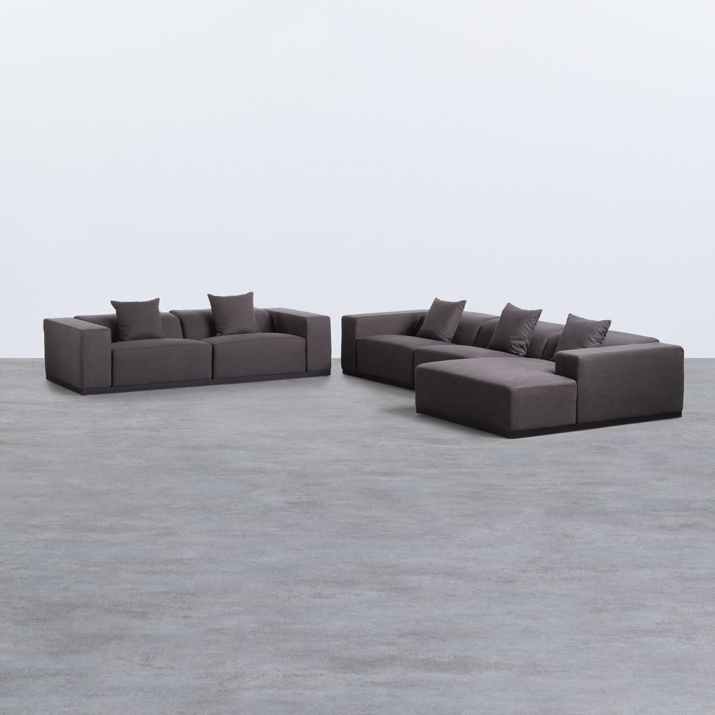 Chaiselongue links und 3-Sitzer-Sofa aus Stoff Tamam, Galeriebild 1