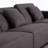 Chaiselongue links und 3-Sitzer-Sofa aus Stoff Tamam, Miniaturansicht 6