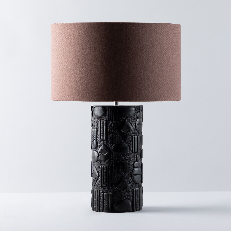Tischlampe aus Stoff und Holz Nil , Galeriebild 1
