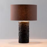 Tischlampe aus Stoff und Holz Nil , Miniaturansicht 3