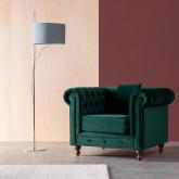 Sessel mit Armlehnen aus Samt Velluto, Miniaturansicht 2