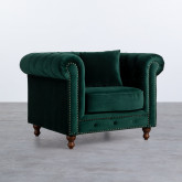 Sessel mit Armlehnen aus Samt Velluto, Miniaturansicht 1