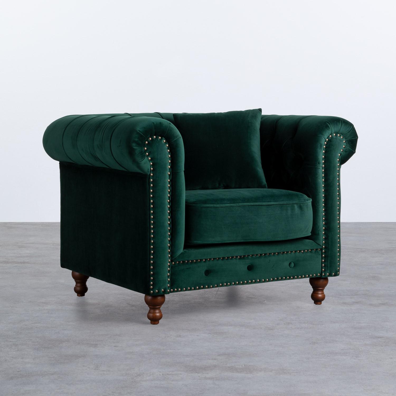 Sessel mit Armlehnen aus Samt Velluto, Galeriebild 1