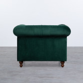 Sessel mit Armlehnen aus Samt Velluto, Miniaturansicht 4