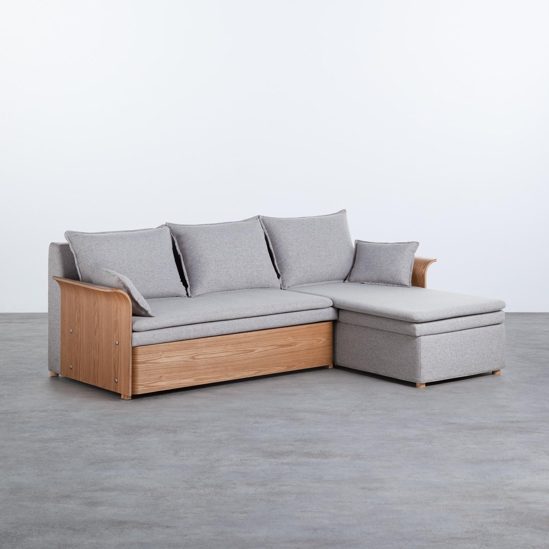 Bettsofa Chaiselongue rechts 3-Sitzer- aus Stoff Nato, Galeriebild 1