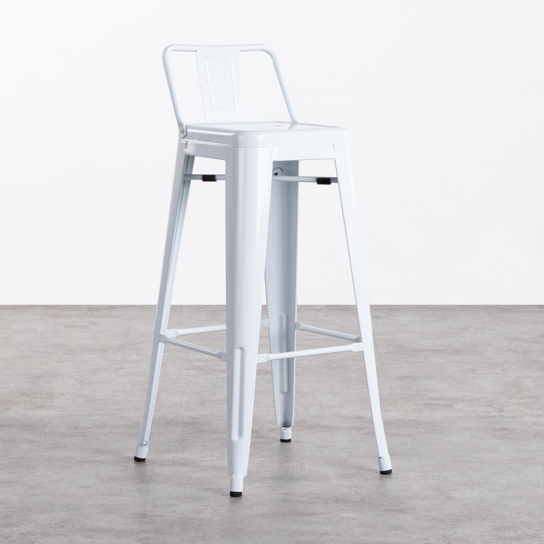Hohe Hocker mit Rückenlehne aus Stahl Industrial (76 cm), Galeriebild 1
