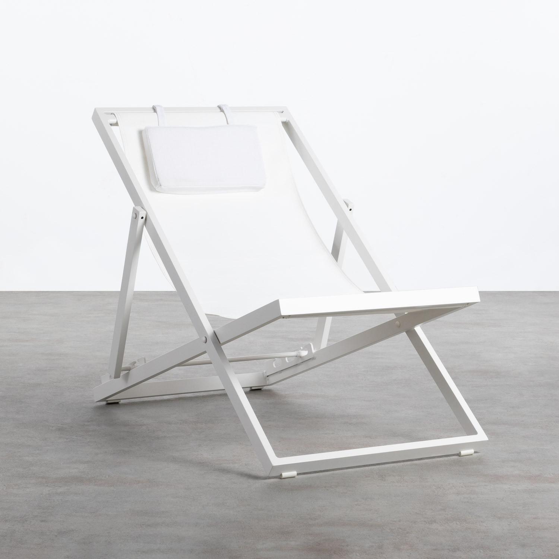 Verstellbare Liege-Hängematte aus Stoff und Aluminium Rilas, Galeriebild 1