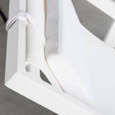 Verstellbare Liege-Hängematte aus Stoff und Aluminium Rilas, Miniaturansicht 9