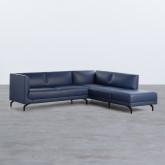 Sofa Chaiselongue links 4-Sitzer- aus Kunstleder Daka, Miniaturansicht 1