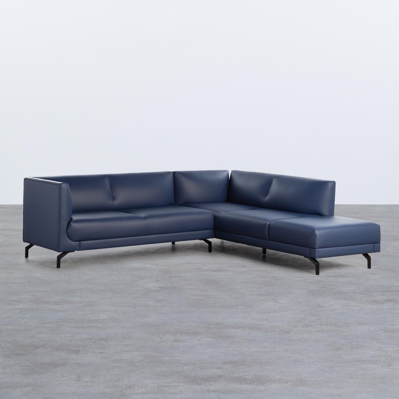 Sofa Chaiselongue links 4-Sitzer- aus Kunstleder Daka, Galeriebild 1