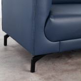 Sofa Chaiselongue links 4-Sitzer- aus Kunstleder Daka, Miniaturansicht 5