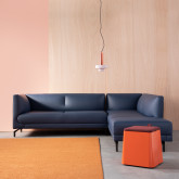 Sofa Chaiselongue links 4-Sitzer- aus Kunstleder Daka, Miniaturansicht 2