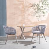 Outdoor Stuhl aus Aluminium und Seil Xile, Miniaturansicht 2