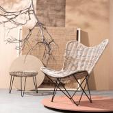Sessel aus Natur-Rattan Timot, Miniaturansicht 2