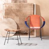 Outdoor Stuhl aus Rattan und Stahl Orag, Miniaturansicht 2