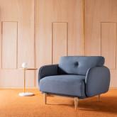 Sessel mit Armlehnen aus Stoff Linsi, Miniaturansicht 2