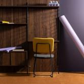 Esszimmerstuhl aus Textil und Metall Lala, Miniaturansicht 2