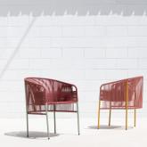 Outdoor Stuhl aus Rattan und Stahl Orka, Miniaturansicht 2
