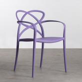 Outdoor Stuhl mit Armlehnen aus Polypropylen Cielo, Miniaturansicht 1