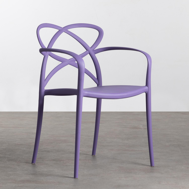 Outdoor Stuhl mit Armlehnen aus Polypropylen Cielo, Galeriebild 1