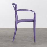 Outdoor Stuhl mit Armlehnen aus Polypropylen Cielo, Miniaturansicht 2