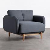 Sessel mit Armlehnen aus Stoff Linsi, Miniaturansicht 1